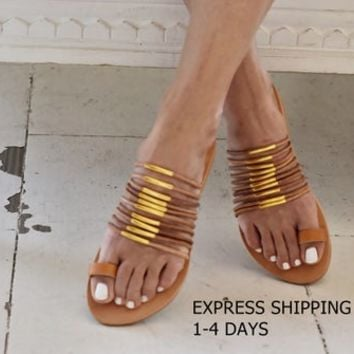 Sandals, flat summer sandals.  Leather sandals, Elegant greek sandals, Womens shoes, Handmade sandals, Gifts, Womens sandals, Shoes, Sandals