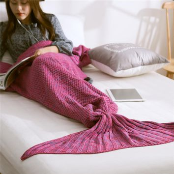 Mermaid Blanket  Pattern Crochet Mermaid Tail Knitted Mermaid Tail Blanket Adult Child Baby