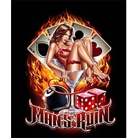 HOT SEXY PINUP GIRL IN MARTINI GLASS POSTER - 24X36