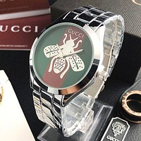 GUCCI Woman Men Fashion Bee Watch Business Watches Wrist Watch Silvery