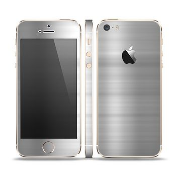 The Brushed Metal Surface Skin Set for the Apple iPhone 5s