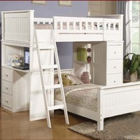Acme 10970A Willoughby Twin Loft Bed, White