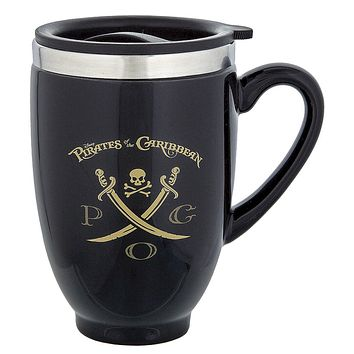 Disney Parks Pirates of the Caribbean Travel Ceramic Coffee Mug New