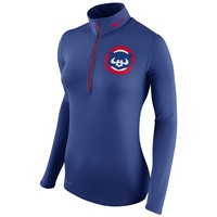 Nike Chicago Cubs Cooperstown Half-Zip Dri-FIT Performance Top - Women's, Size: