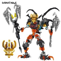 Smartable BIONICLE Skeleton Mask King Figures Building Block Toys For Boys Compatible legoing BIONICLE Christmas Gift 279pcs/Set