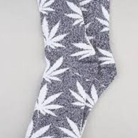 Huf Plantlife Socks Grey Heather White