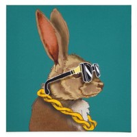 Hipster Bunny | Animals | Art Themes | Art | Z Gallerie