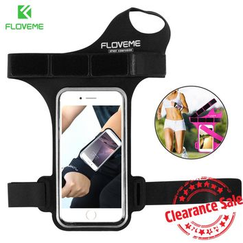 FLOVEME Sports Armband For Samsung Galaxy S8 S7 Thumb Arm Band For Xiaomi Mi6 Running Sports Mobile Phone Armband For Huawei P10