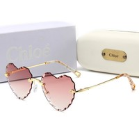 Chloe Popular Women Summer Cute Heart-Shaped Sun Shades Eyeglasses Glasses Sunglasses