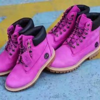 "Timberland——""Breast Cancer Awareness"" Men Women Boots"