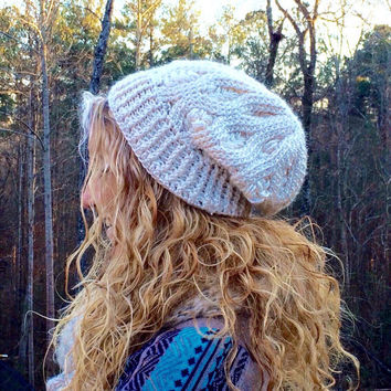 Womens Hat, College Student Gift for Women, College Student Gift, Crochet Beanie, Slouchy Beanie, Women's Slouch Beanie, Womens Gift