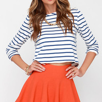 Ice Cream Sundays Orange Knit Skater Skirt