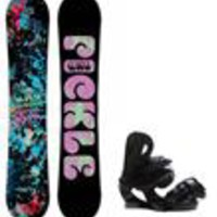 GNU Pickle PBTX Snowboard w/ Roxy Classic Bindings