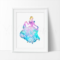 Cinderella 4 Watercolor Art Print