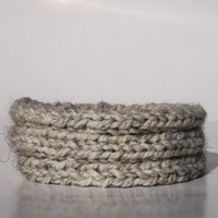 Thick Knit Winter Headband - Gray