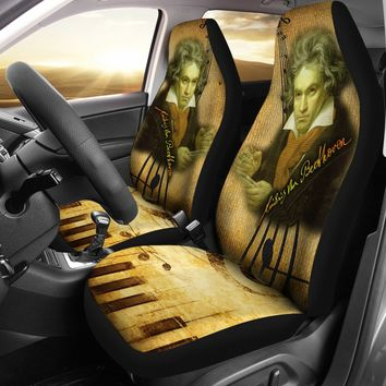 Ludwig van Beethoven Custom Printed Car Seat Covers (set of 2)