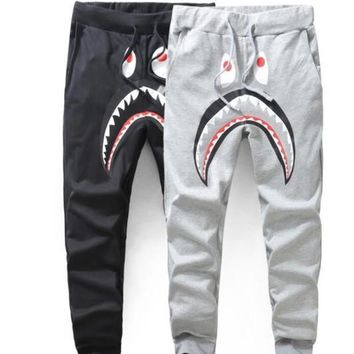 Mens Sportswear Pants Jogger Tracksuit Causel Terry Fabric Crewneck Bird Ovo Drake Black Hip Hop Stusay Men Shark Mouth A P Ehead Trousers | Best Deal Online