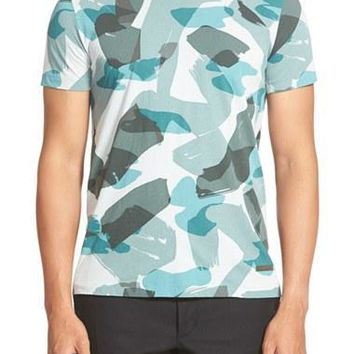 Men's Burberry Brit 'Eliot' Camo Print T-Shirt,