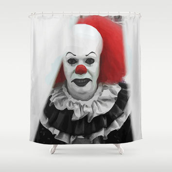 Creepy Clown Shower Curtain By Maioriz Home