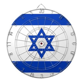 Dartboard with Flag of Israel