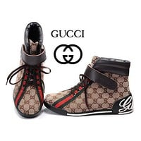 GUCCI Women Men Flats Sneakers Sport Shoes Boots Shoes-4