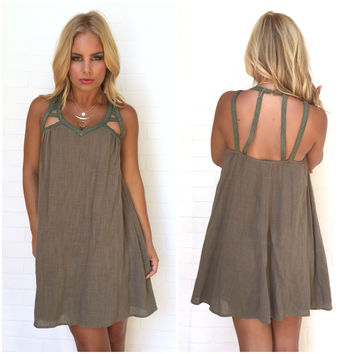Meant To Be Dress In Olive
