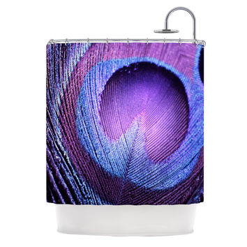 "Monika Strigel ""Purple Peacock"" Lavender Shower Curtain"