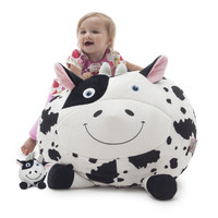 Cori The Cow Beanimal Bean Bag Chair & Plush Pet SET
