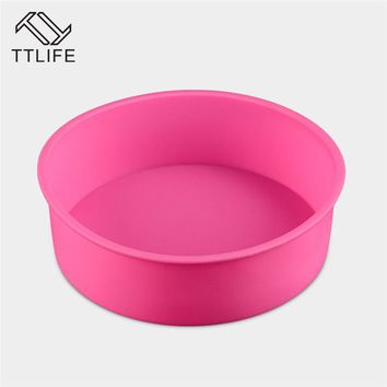 TTLIFE 2017 Food Grade Silicone Cake Silicone Round Cake Baking Pan Cake Jelly Chocolate Mold Kitchen Baking Tools