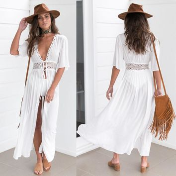 Long Bikini Cover Up Cardigan Summer Kimono