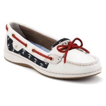 Sperry Women's Angelfish, White/Anchors-10