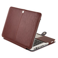 MOSISO Black Luxury PU Leather Laptop Sleeve Bag For Macbook Pro 13 Case Notebook Computer PU Bag For Apple Pro 13.3'' A1278