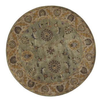 Dynamic Rugs Charisma Beige/Green Classic Round Area Rug