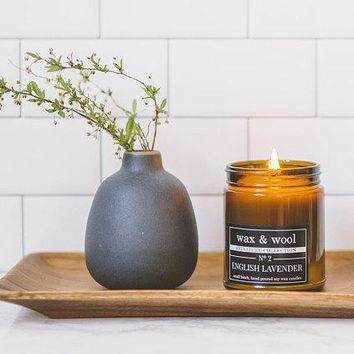 English Lavender - 9 oz Pure Soy Wax Candle