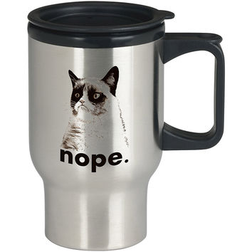 GRUMPY CAT - Nope For Stainless Travel Mug *