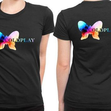 CREYH9S Coldplay Logo Colorize 2 Sided Womens T Shirt