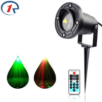 ZjRight Remote control Red Green Twinkling Laser Light Waterproof IP65 outdoor laser projection lamp Bar DJ party stage lights