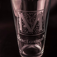How I Met Your Mother Glass MacLaren's Etched Drinking Glass MacLaren's Irish Pub Etched Pint Glass