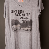 "Gina ""Don't Look Back Your Not Going That Way"" Tee Dress"