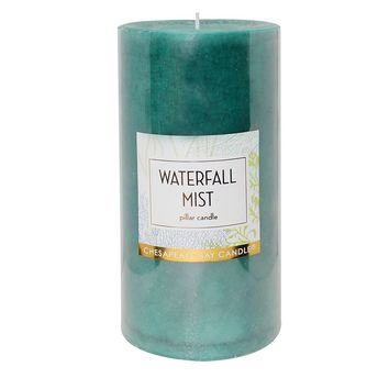 Chesapeake Bay Candle 4'' x 8'' Waterfall Mist Pillar Candle