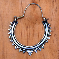 Kuchi Afghan Earrings,Crescent Tribal Earrings,Bedouin Ethnic Earrings,Big Hoop Earring,Hippie Bohemian Earrings,Jewelry,Gypsy Boho Earrings