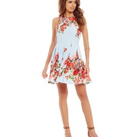Gianni Bini Marcy Floral Bouquet A-line Dress | Dillards