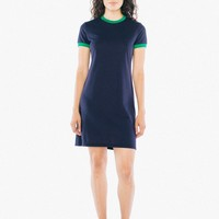 50/50 Ringer T-Shirt Dress | American Apparel