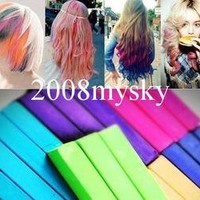 12 PCS Temporary Hair Chalk 12 Color Chalk Salon Kit 70 Color Choice #053-#064