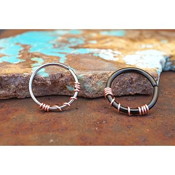 Hoop Earring Silver, Gold, Rose Gold, or Black
