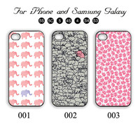 Little Elephants,iPhone 5 case,iPhone 5C,iPhone 5S,Samsung Galaxy S3, Samsung Galaxy S4 Phone case,iPhone 4 Case, iPhone 4S Case