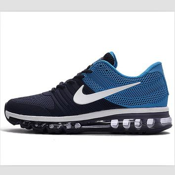 NIKE fashion casual shoes sports shock absorbing running shoes Dark blue