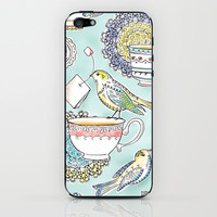 Tea Time iPhone & iPod Skin by Heather Dutton