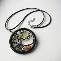 Nightmare Before Christmas Inspired Tim Burton Tree of Life Necklace