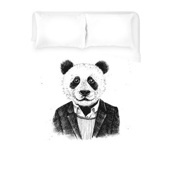 Panda Man Duvet Cover